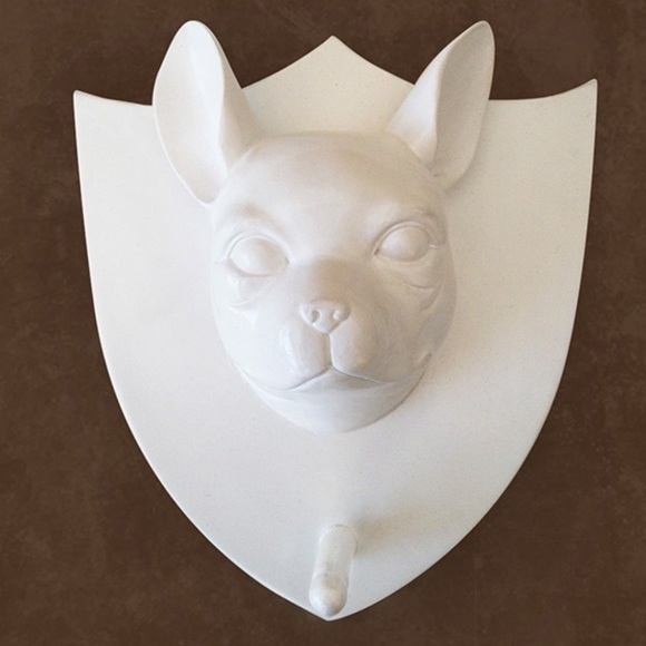 Naked Decor Accents | Boston Terrier Wall Hook Resin Naked